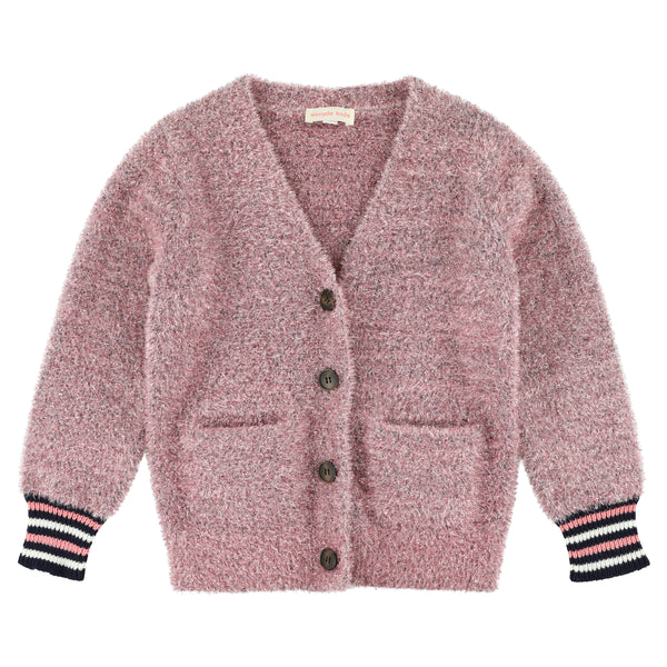 simple kids alice sparkino cardigan pink, free shipping kodomo boston