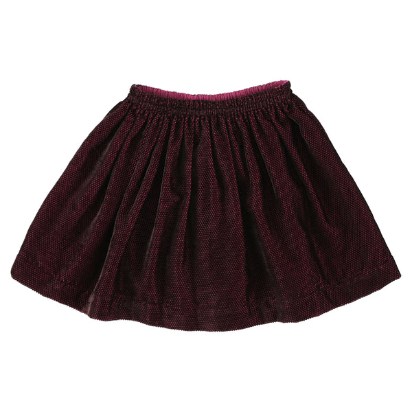 simple kids polis dobby skirt berry, free shipping kodomo boston