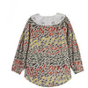 wolf & rita tatiana winter grass blouse, bright color fun all over print top shirt for girls, best new children styles at kodomo boston