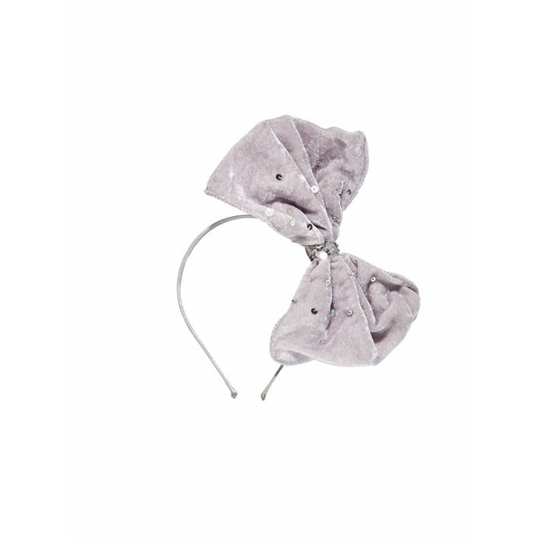 tutu du monde velvet bow headband french silver - kodomo boston, new tutu du monde accessories