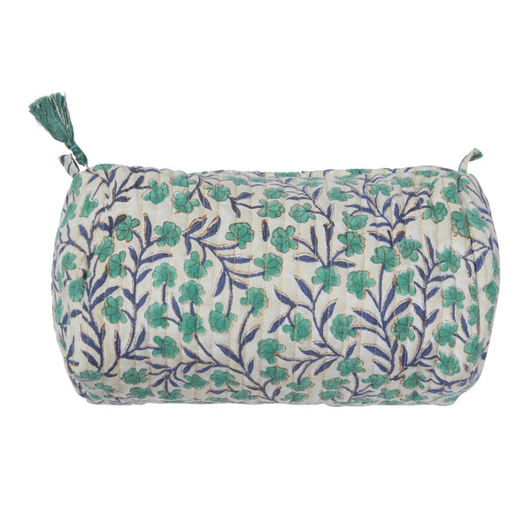bonheur du jour flowers pouch in pink.  perfect for toiletries, features zip tassel fastening and interior pockets.  free shipping kodomo boston