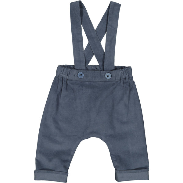 louis louise baby chapi corduroy pants dark blue, best baby gifts from kodomo boston. free shipping.