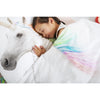 snurk unicorn duvet cover set, twin full/queen bedding bedroom decor for children, fast free shipping at kodomo boston