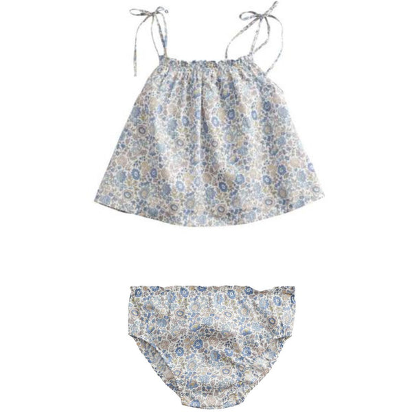 belle enfant baby cami + bloomers set liberty d'anjo