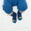 the bonnie mob vacay sunshine ankle baby socks navy, babies organic accessories