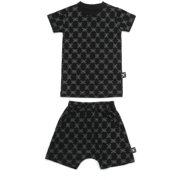 nununu mini skull loungewear black