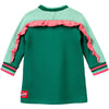 oilily hisper sweat dress green rabbit with kite