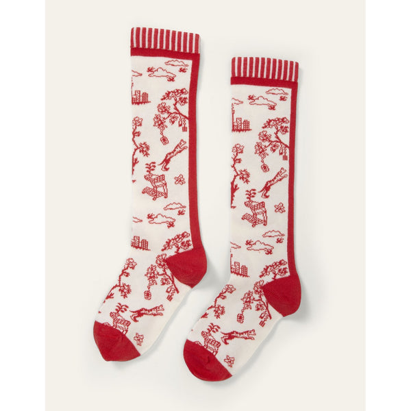 oilily madeleine knee socks red, new spring summer 2020 kids clothes and accessories from kodomo boston, free shipping