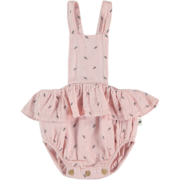 my little cozmo jumpsuit botanic soft pink - kodomo boston, free shipping