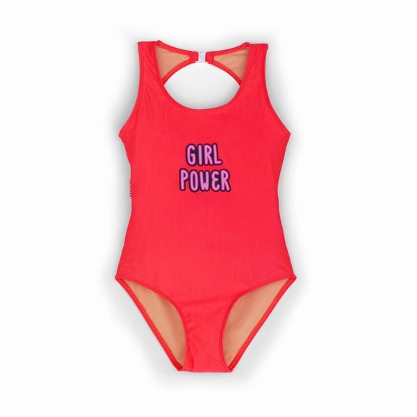 andorine girl power bodysuit pink,  new spring summer girls swimwear from andorine ss20 collection, kodomo boston, free shipping