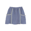 zef emroidered skirt blue