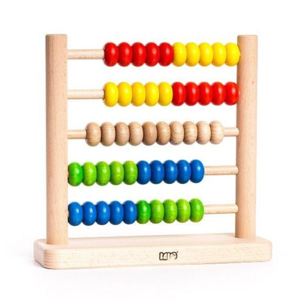 little poland gallery abacus 50, children's wooden toys teach math color skills