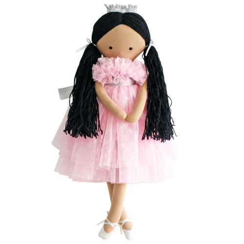 alimrose penelope princess pink spot tulle, kids cotton dolls