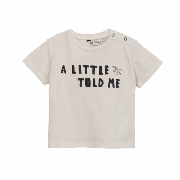 barn of monkeys little bird baby t-shirt natural, ethical and cozy baby clothing for spring summer 2020 at kodomo boston, free shipping