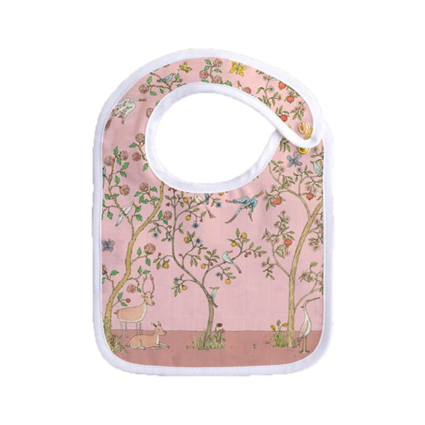 atelier choux small bib in bloom pink
