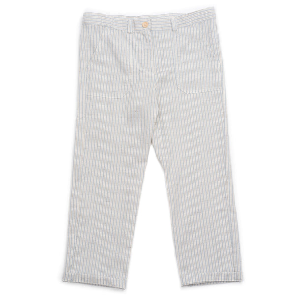bonton matcha boy striped pants blue stripes - kodomo boston, fast shipping.