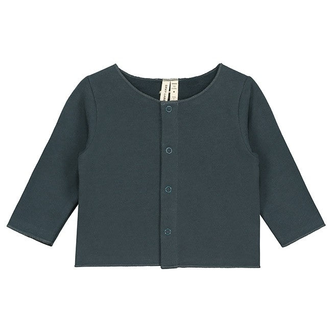 gray label baby cardigan blue grey - kodomo boston, fast shipping
