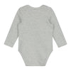 gray label baby long sleeve onesie grey melange/cream stripe
