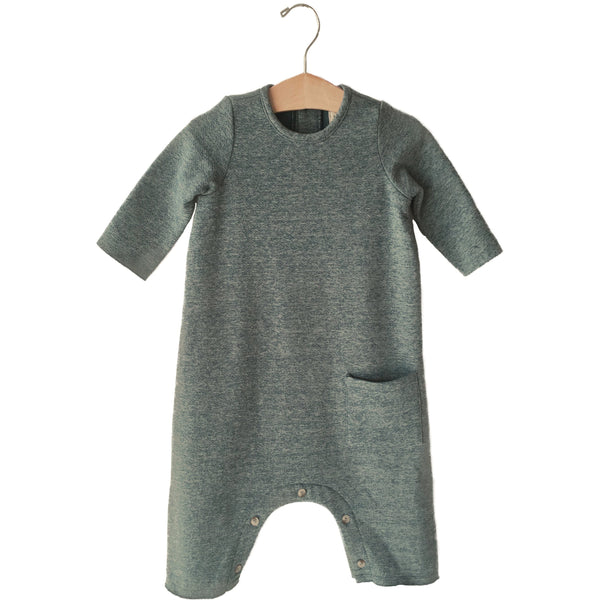 boy + girl baby jumper heather blue