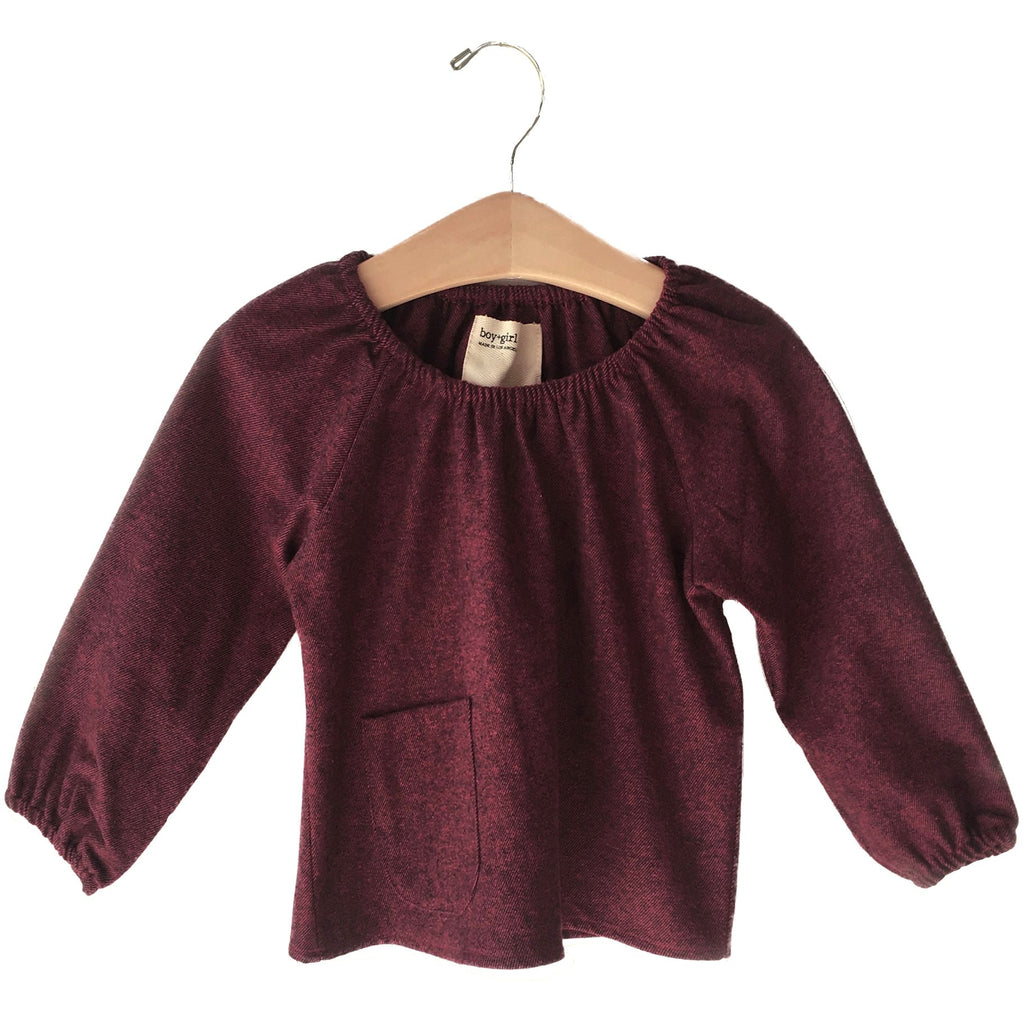 boy+girl peasant baby top scarlet - kodomo boston