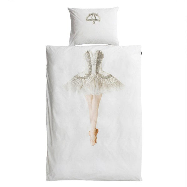 snurk ballerina duvet cover set, fun children's bedding