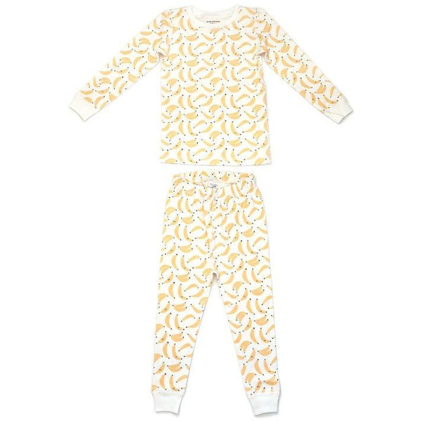 dodo banana pajama set bananas, kid's sustainable loungewear sets