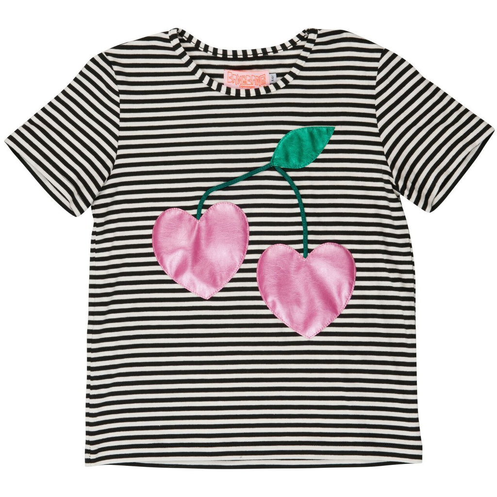 wauw capow by bang bang copenhagen new spring summer baby collection berry cherry t-shirt in stripes - free fast shipping on all orders over $99 from kodomo
