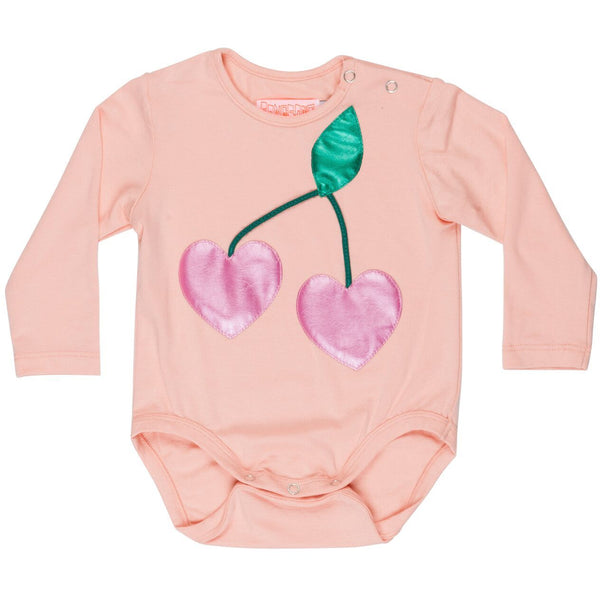 wauw capow by bangbang copenhagen new spring summer baby collection berry onesie in light pink - free fast shipping on all orders over $99 from kodomo