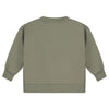 gray label boxy sweater moss