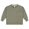 gray label boxy sweater moss - kodomo boston, kids pullovers, soft unisex boys nd girls tops