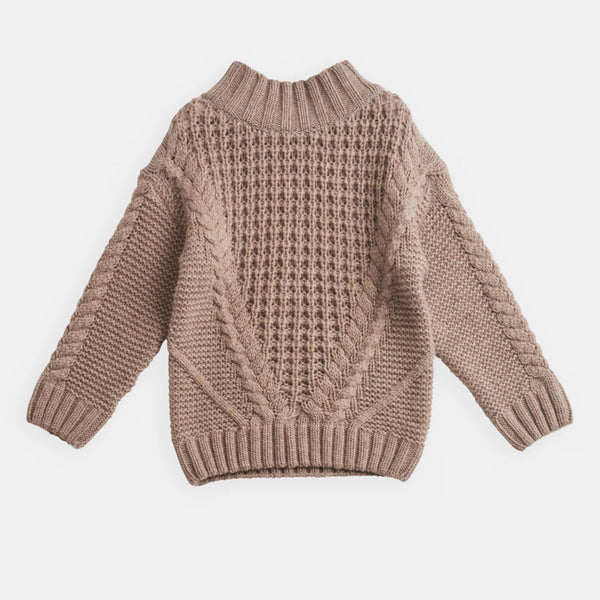 belle enfant cable knit sweater