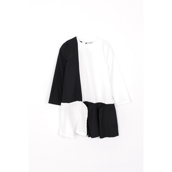 motoreta flapper dress black and white - kodomo