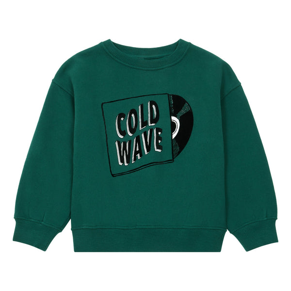 hundred pieces cold wave sweatshirt chrome green, free shipping kodomo boston