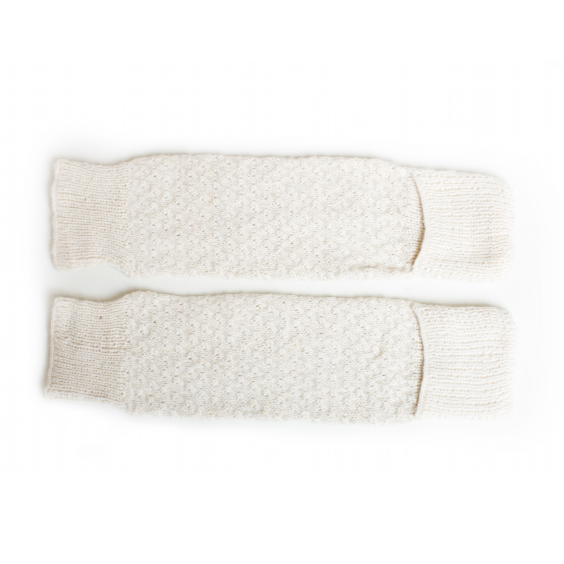 cabbages & kings hand knit leg/arm warmers cream