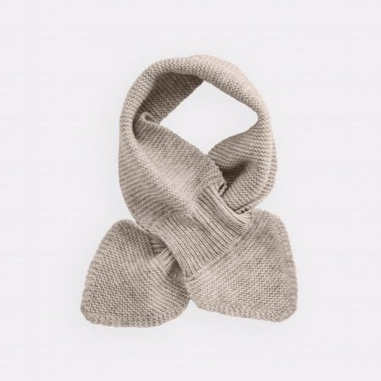 belle enfant twist scarf alabaster, new fall winter fashion collection accessories for baby kids at kodomo boston, free shipping