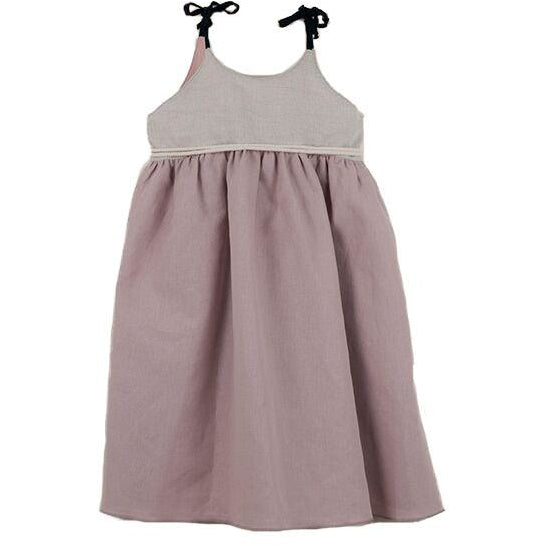 popelin new spring summer girls collection dusty pink reversible dress with straps - free fast shipping on all orders over $99 from kodomo