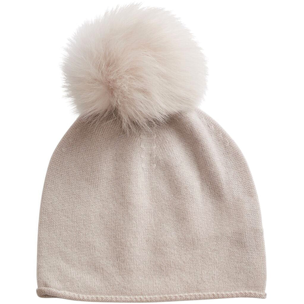 belle enfant hat with shearling pompom alabaster - kodomo
