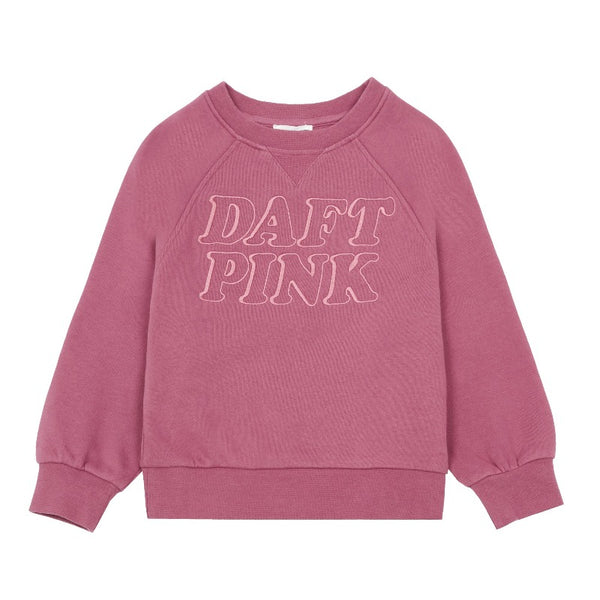 hundred pieces daft pink sweatshirt, kids crewneck tops, graphic print letters