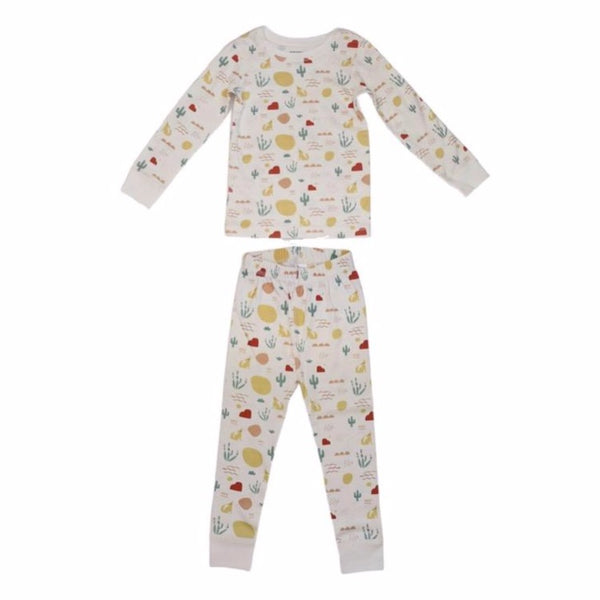 dodo banana pajama set desert, children's sustainable loungewear sets
