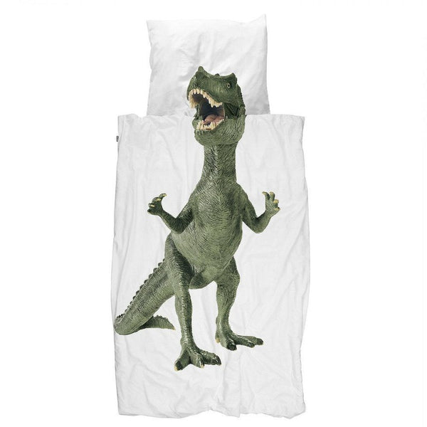 snurk dinosaur duvet cover set, fun children bedding