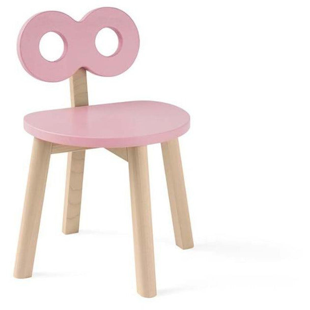 ooh noo pink double-o chair, sustainably made children's furniture