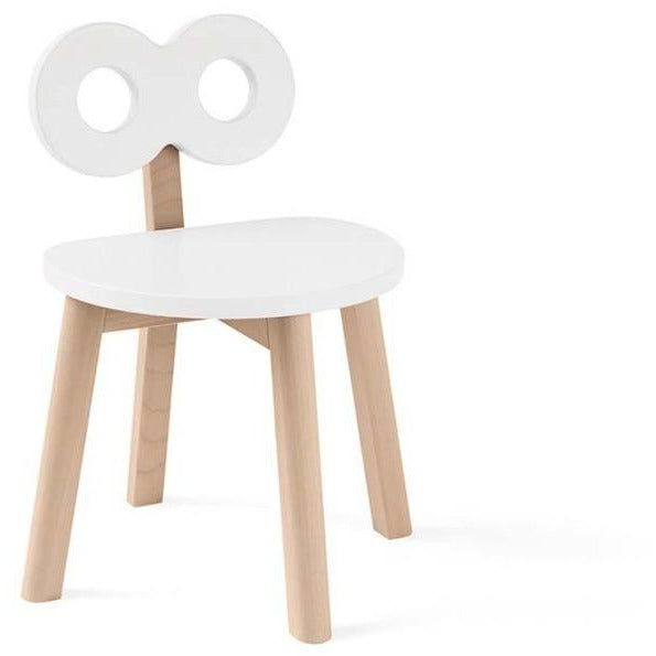 ooh noo white double-o chair, sustainably made children's furniture