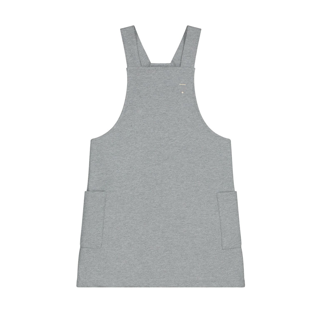 gray label dungaree dress grey melange - kodomo boston, fast shipping. new gray label collection  girls collection