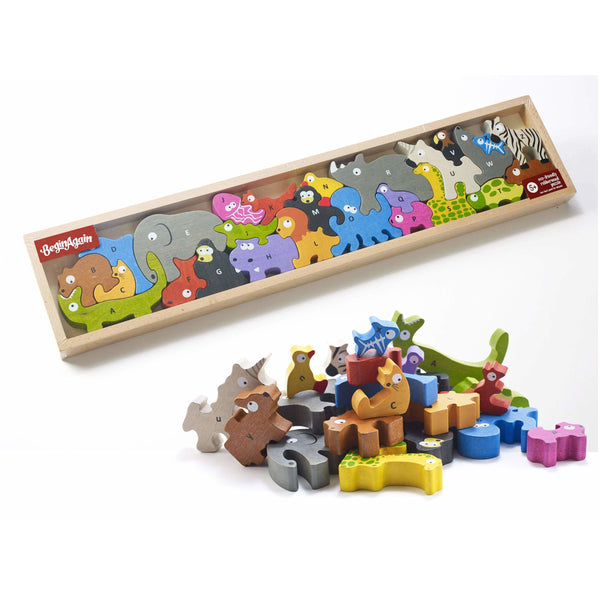begin again animal parade a to z puzzle, free shipping kodomo boston