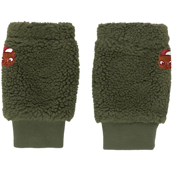 tinycottons sherpa leg warmer green wood - kodomo boston, fast shipping, kids legs and arm warmers
