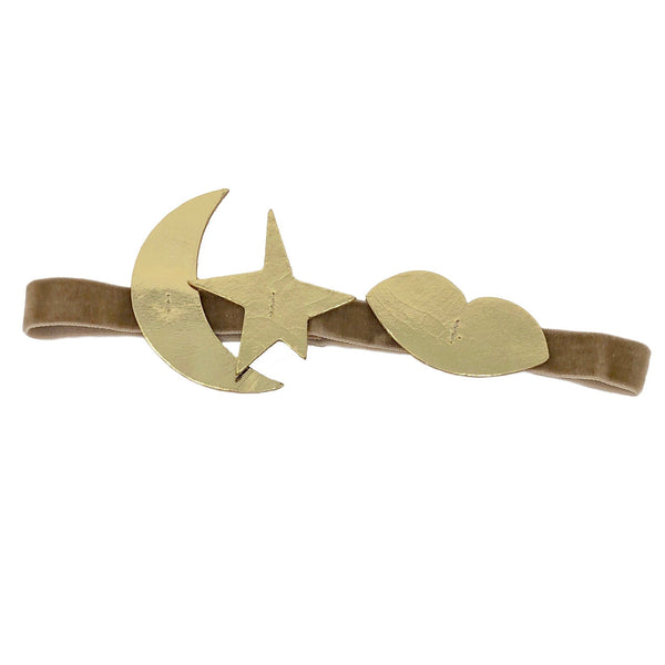 atsuyo et akiko new girls collection serendipity leather headband gold - free fast shipping on all orders over $99 from kodomo