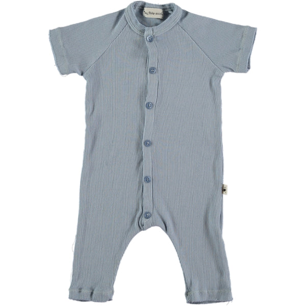 my little cozmo baby jumpsuit blue - kodomo boston, fast shipping