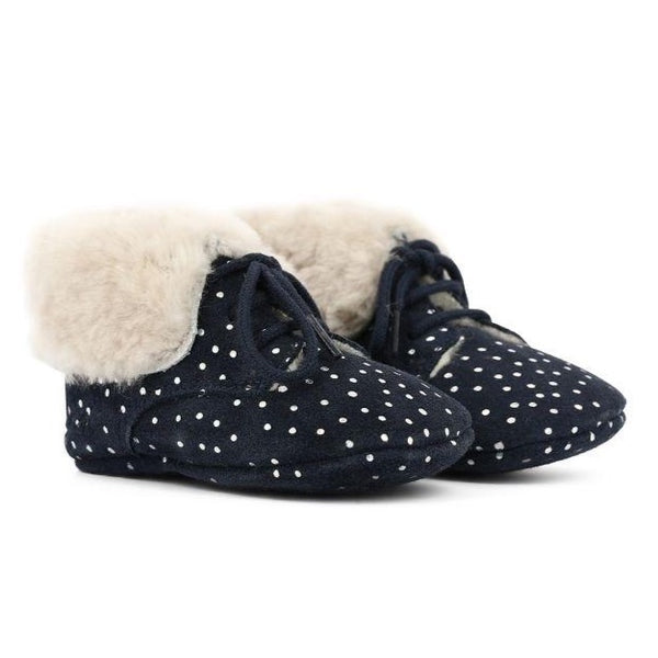 pom d'api first fur polka dots