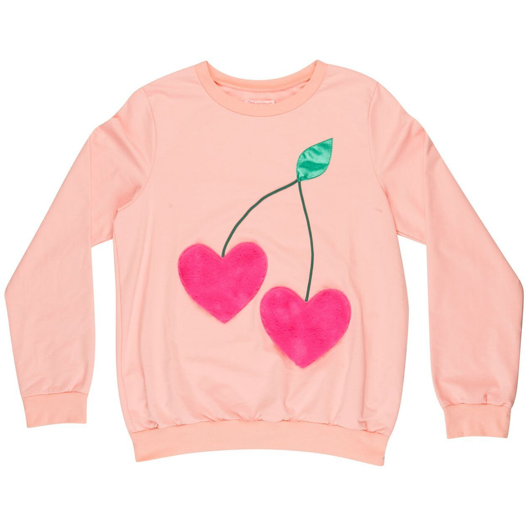 wauw capow by bangbang copenhagen new spring summer women's collection frutti sweatshirt in light pink - free fast shipping on all orders over $99 from kodomo