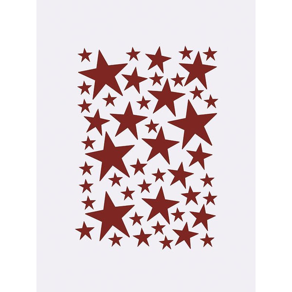 ferm living wall stickers mini stars red - kodomo boston